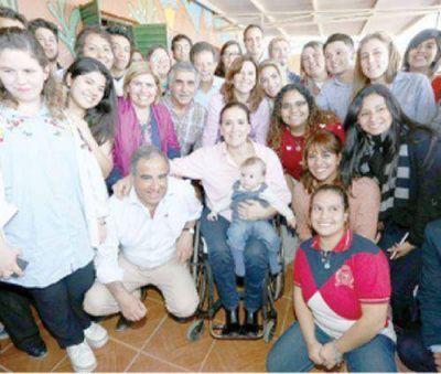 Gabriela Michetti hizo campaña en La Rioja