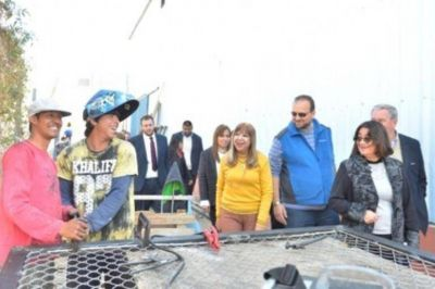 Corpacci recorrió las obras del Polideportivo Capital