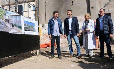 Posse y Daniel Ivoskus en la ampliación del Hospital Materno Infantil de San Isidro
