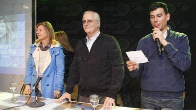 Taiana encabezó un acto con precandidatos en La Plata