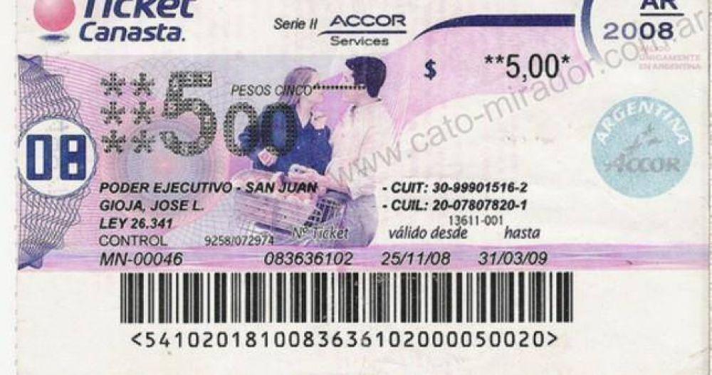 Precarización retro: volvieron los tickets canasta