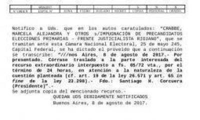 Impugnación a Menem. Jueves clave para el PJ riojano