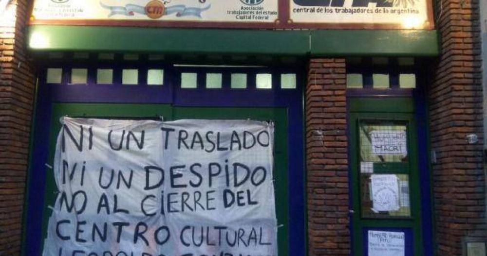 Ocupan el Centro Cultural Leopondo Gonzalez y le piden a ATE Capital que continúe funcionando