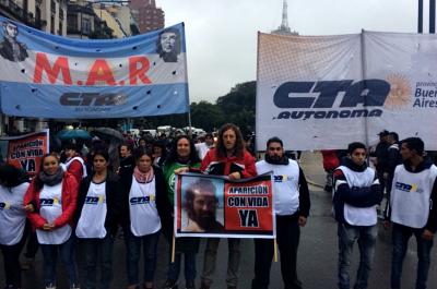 La CTA Autónoma bonaerense reclamó la aparición de Santiago Maldonado