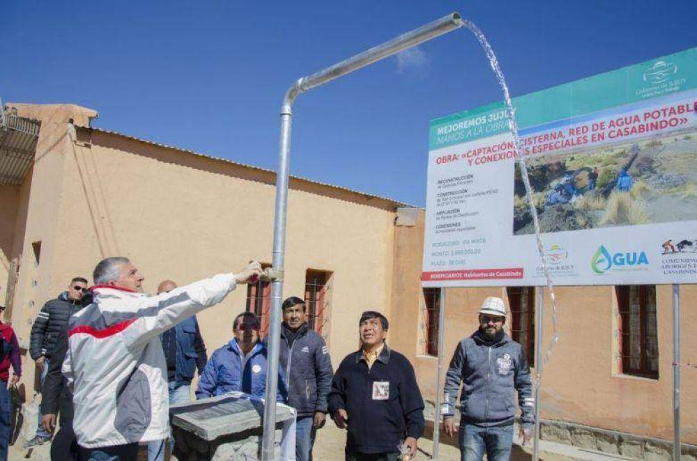 Morales inauguró obras en Casabindo