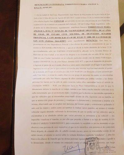 Torrontegui denunció agresiones de seguidores de Avanzar y Cambiemos