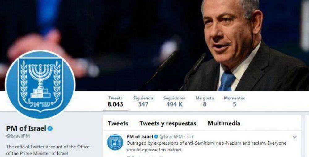 """Netanyahu: """"Indignado por expresiones de antisemitismo, neonazismo y racismo; todos deberían oponerse"""""""