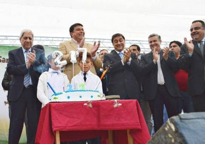 El vicegobernador encabezó los festejos del aniversario 127 de Antajé