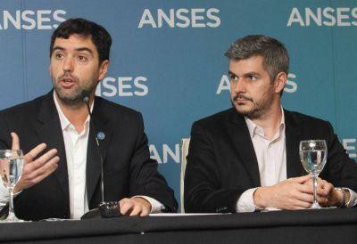 Marcos Peña y Emilio Basavilbaso anunciaron el segundo aumento anual de jubilaciones y AUH