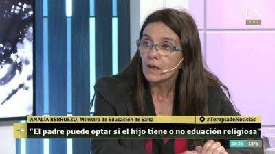 La ministra de Educación salteña defendió las clases de religión en las escuelas