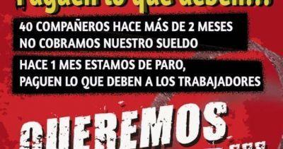 Protesta frente a Telefónica por deudas salariales con 40 empleados