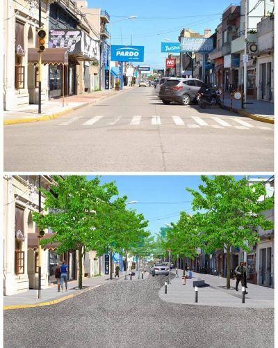 La obra de calle Anchorena incluye recambio de cañerías