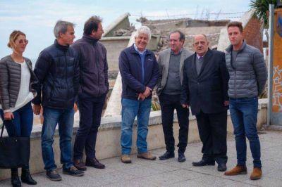 Arroyo recorrió obras de puesta en valor de los balnearios de La Perla