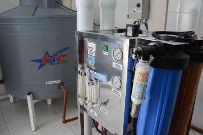 Inauguraron una planta de agua potable en Mogna