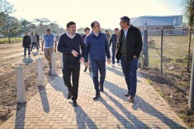 Siguen las obras en zona de relocalización de boliches
