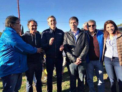 En un festejo por el Día del Niño, Randazzo reapareció acompañado de referentes de organizaciones sociales