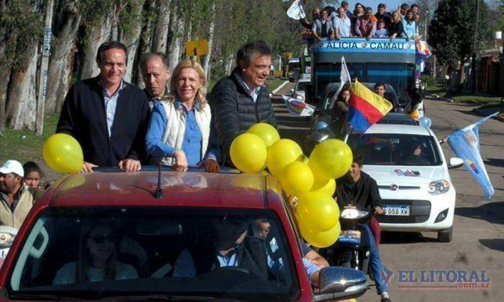 Caravana y actos de los candidatos a la gobernación con postulantes municipales