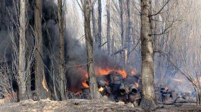 Un muerto y chacras bajo fuego por el feroz temporal