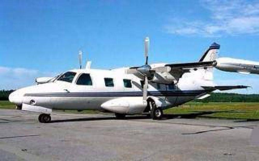 Avión caído en el Delta: