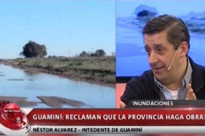 """Inundaciones: El intendente de Guaminí exige que se """"cumpla lo que se prometió del plan de obras"""""""