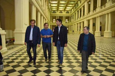 Comenzó la campaña para Cambiemos: Mosca y Garro recorrieron obras en La Plata