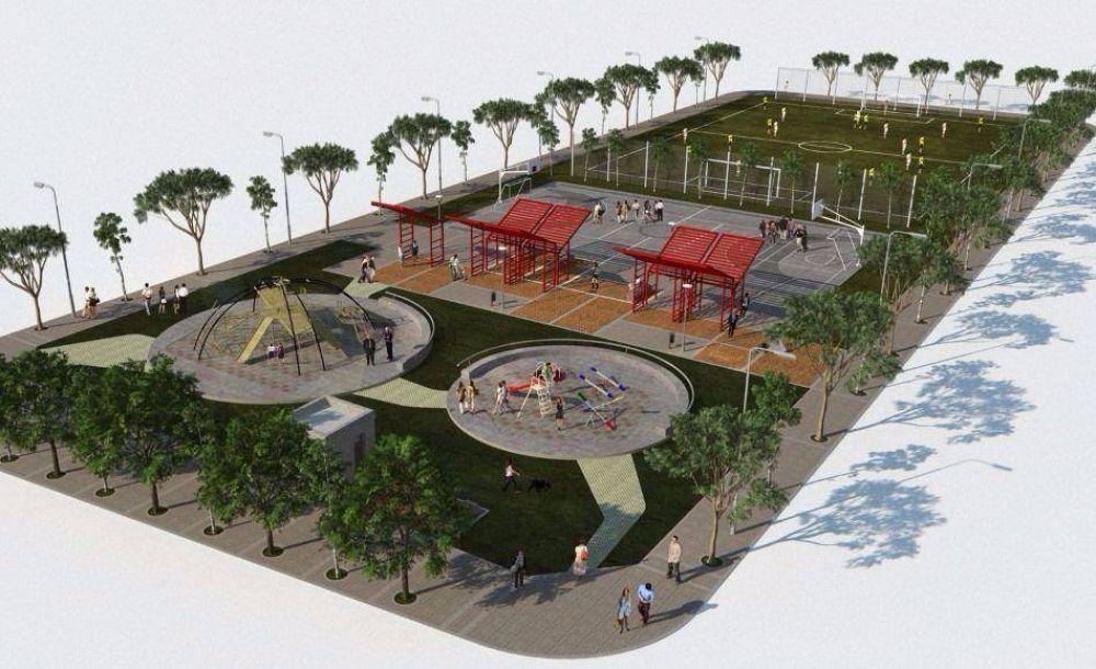 Avanza la construcción de 16 plazas en distintos barrios de Mar del Plata