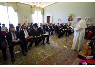 Rabinos celebran con el Papa un diálogo interreligioso