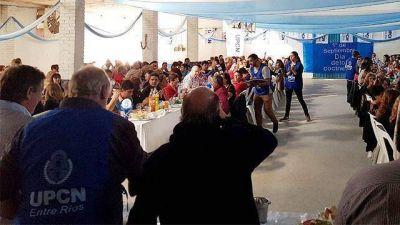 Bahillo, Busti y Allende compartieron palco de UPCN