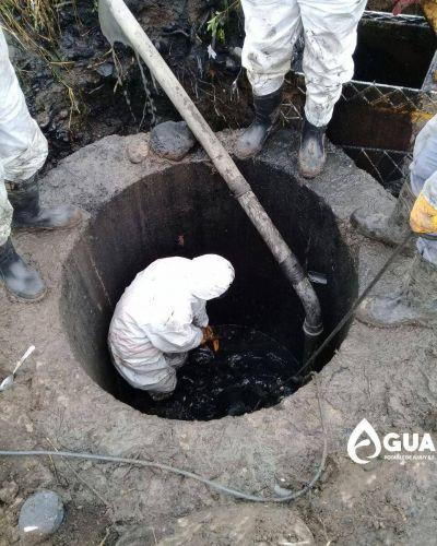 Daños en el sistema cloacal de Agua Potable