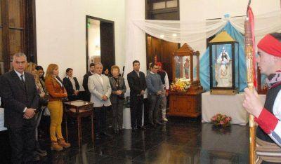 El Vicegobernador Bosetti participó del recibimiento de la Virgen de La Merced en la legislatura