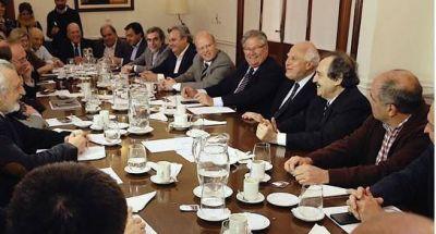 Alfonsín se reunió con Lifschitz y su gabinete