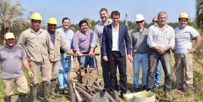 Trabajos preliminares en el predio donde construirán la planta de efluentes cloacales