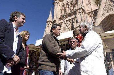 Massa recorrió PyMEs en Luján y apuntó contra el Gobierno por beneficiar la especulación financiera