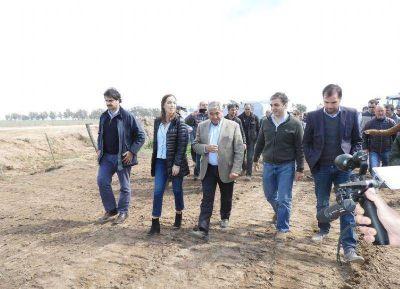 Vidal recorrió obras hídricas en General Villegas: