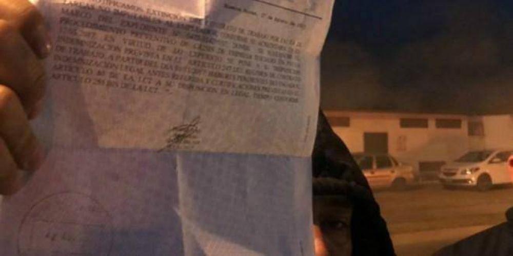 Trabajadores mantienen ocupada la planta de una autopartista en Córdoba