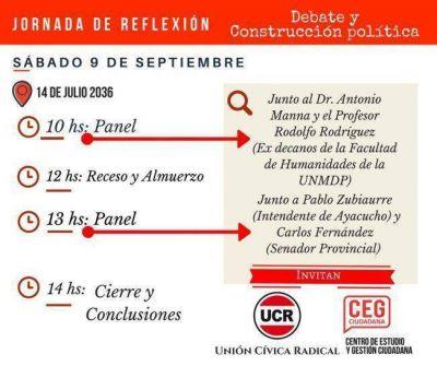 Se realizará jornada de debate radical en Mar del Plata