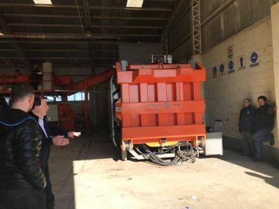 Pusieron en funcionamiento la encapsuladora de residuos en San Julián