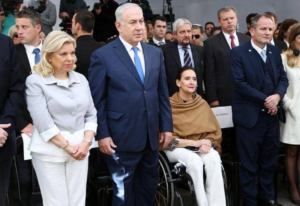 Benjamín Netanyahu recordó a las víctimas de la AMIA con la familia Nisman