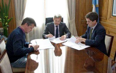 Emergencia hídrica: Altolaguirre firmó obras con Frigerio y Bereciartúa