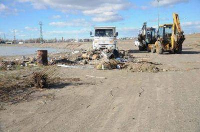 Retiraron 20 camiones de basura de la Laguna Ortiz
