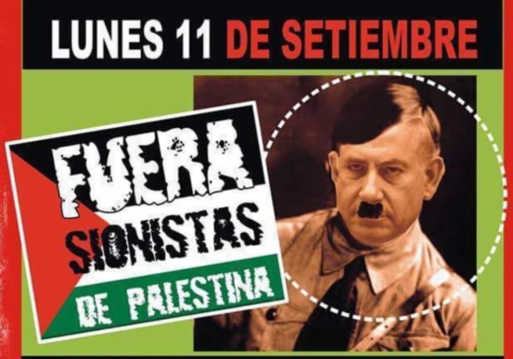 Aparecieron carteles antisemitas en Buenos Aires por la visita de Netanyahu