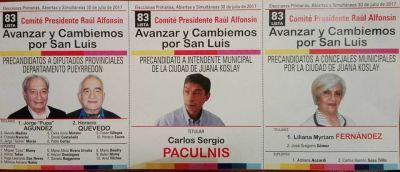 Desde el Comité Raúl Alfonsín confían en que serán los candidatos de Avanzar y Cambiemos