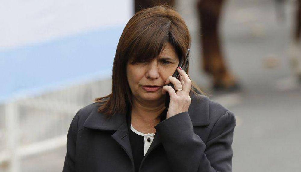 Bullrich celebró el ADN negativo de Maldonado en transportes de Gendarmería