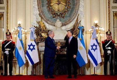 Fuerte sintonía entre Netanyahu y Macri durante su encuentro en Casa Rosada