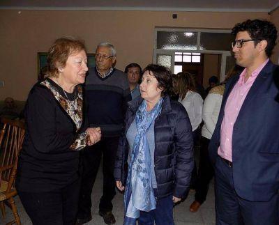 Graciela Ocaña visitó la ciudad y desmintió suspensión de pensiones por discapacidad