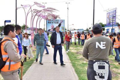 El Intendente Jofré supervisó obras en diferentes sectores de la ciudad