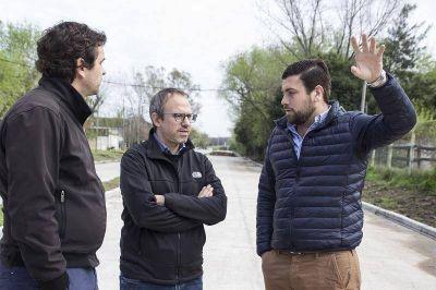 Lucas Delfino recorrió la obra de Combate Pavón junto al Intendente Diego Valenzuela
