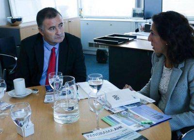 El intendente se reunió con la vicepresidenta de la Cámara de Industria y Comercios Argentina-Alemana