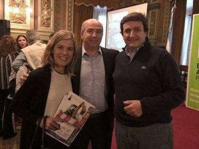 Fernández y Aprile participaron de reunión por el Fondo de Infraestructura Municipal