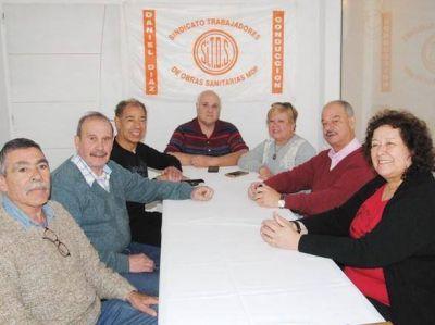 Referentes del Centro de Jubilados de SITOS en un trabajo sin descanso